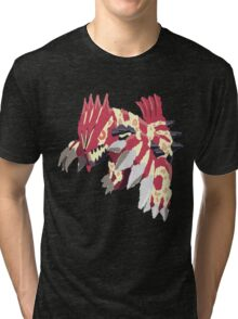Andy W's Primal Groudon (No outline) Tri-blend T-Shirt