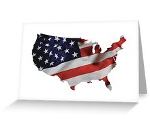 USA United States of America Flag Map Greeting Card
