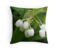 Blueberry Flowers Throw Pillow