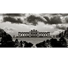 dark clouds above schoenbrunn Photographic Print