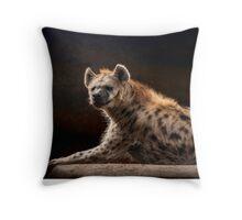Happy Hyena Throw Pillow