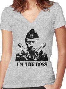 Vladimir Putin Women's Fitted V-Neck T-Shirt