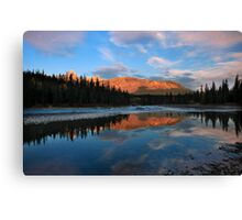 Icefields parkway, A Dawn reflection. Alberta, Canada. Canvas Print