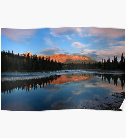 Icefields parkway, A Dawn reflection. Alberta, Canada. Poster