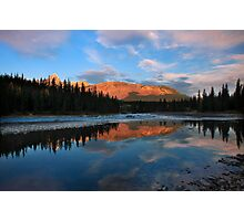 Icefields parkway, A Dawn reflection. Alberta, Canada. Photographic Print