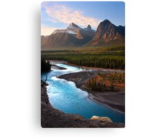 Athabasca River, the Icefields Parkway. Alberta, Canada. Canvas Print