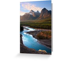 Athabasca River, the Icefields Parkway. Alberta, Canada. Greeting Card