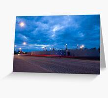 Wall lights at Bangor Greeting Card