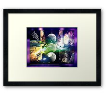 Looking to the future and to the past Framed Print