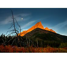 Sunrise, Red Rock Canyon, Waterton National Park, Alberta , Canada. Photographic Print