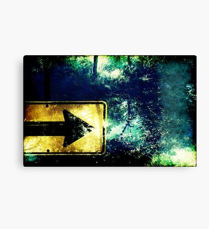 Trees Straight Ahead Canvas Print