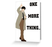 One More Thing... Greeting Card