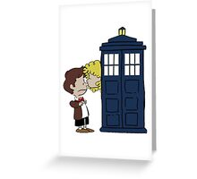 Doctor Who Kiss River Peanuts Greeting Card
