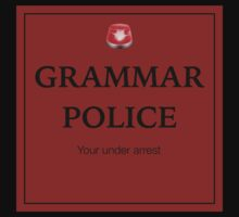 Grammar Police  Kids Clothes