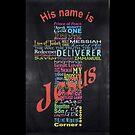His Name is Jesus Phone Case by Scott Hawkins