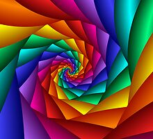 Spiral Rainbow by Julie Shortridge