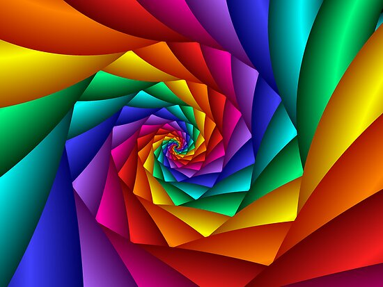 spiral rainbow - photo #41