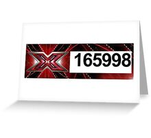 XFactor Number Tag - Harry Styles Greeting Card