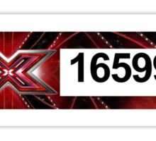 XFactor Number Tag - Harry Styles Sticker