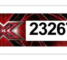 XFactor Number Tag - Niall Horan Sticker