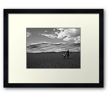 two travelers in GREAT SAND DUNES NATIONAL PARK COLORADO  Framed Print