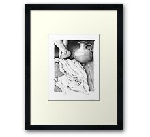 """""""The Towel""""  - Christ washed the disciple's feet Framed Print"""