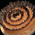 Chocolate Flower Cake by tali