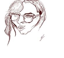 drawing of a womens face by jackpoint23