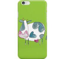 A Cow in a Field  iPhone Case/Skin