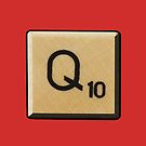 Scrabble Q by 45thAveArtCo