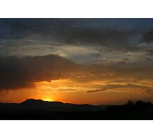 Sunset in Cache Valley Photographic Print