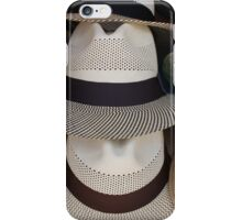 Patterned Panama Hats iPhone Case/Skin