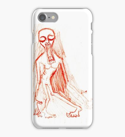 Screaming Red Ink iPhone Case/Skin