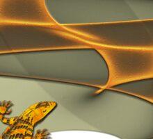 Fractal Gecko Sticker