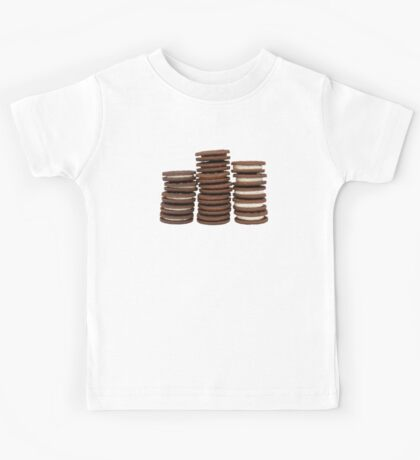 Chocolate Biscuits in Three Piles Kids Tee