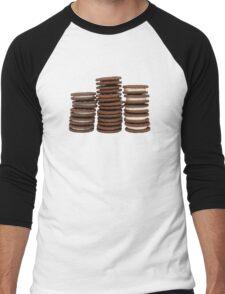 Chocolate Biscuits in Three Piles Men's Baseball ¾ T-Shirt