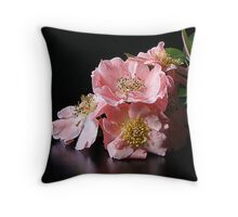 posed and pretty Throw Pillow