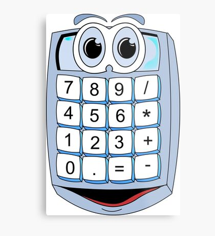 Calculator Cartoon Metal Print
