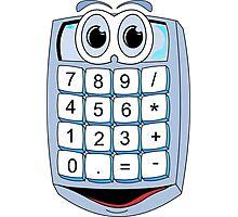 Calculator Cartoon Photographic Print