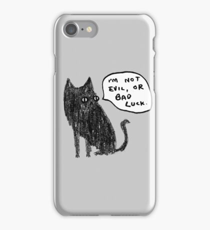 Black Cats Aren't Evil iPhone Case/Skin