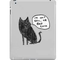 Black Cats Aren't Evil iPad Case/Skin