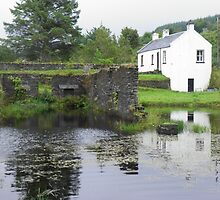 Cottage and Stone Ruins on the Crinan Canal by jingo