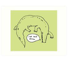 Crocodiles Aren't Evil Art Print
