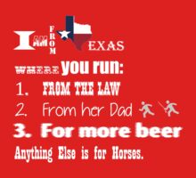 Running in Texas- White Baby Tee