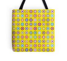 Mods dots large and yellow Tote Bag