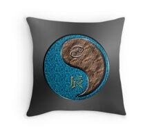 Cancer & Dragon Yang Earth Throw Pillow