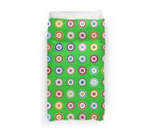Mods dots large and green Duvet Cover