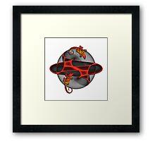 Fractal Gecko Framed Print