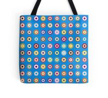 Mods dots large and blue Tote Bag