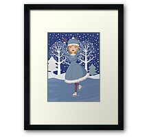 Winter skating girl 2 Framed Print